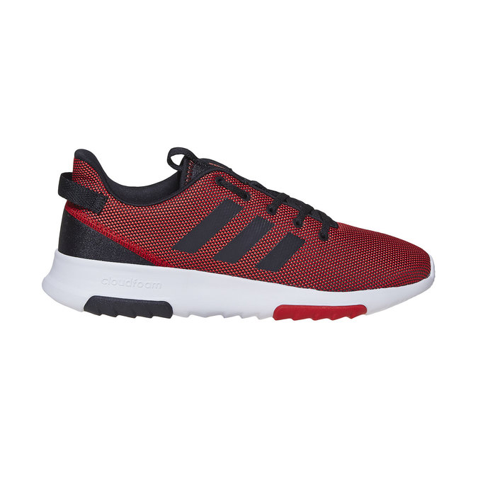 Men's red sneakers adidas, red , 809-5201 - 15