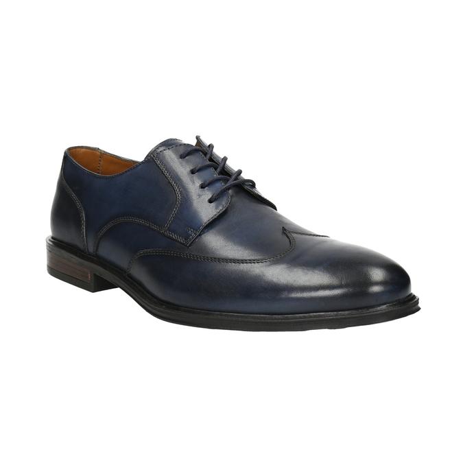 Men's blue leather shoes bata, blue , 826-9914 - 13