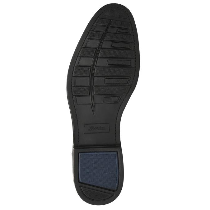 Men's blue leather shoes bata, blue , 826-9914 - 19