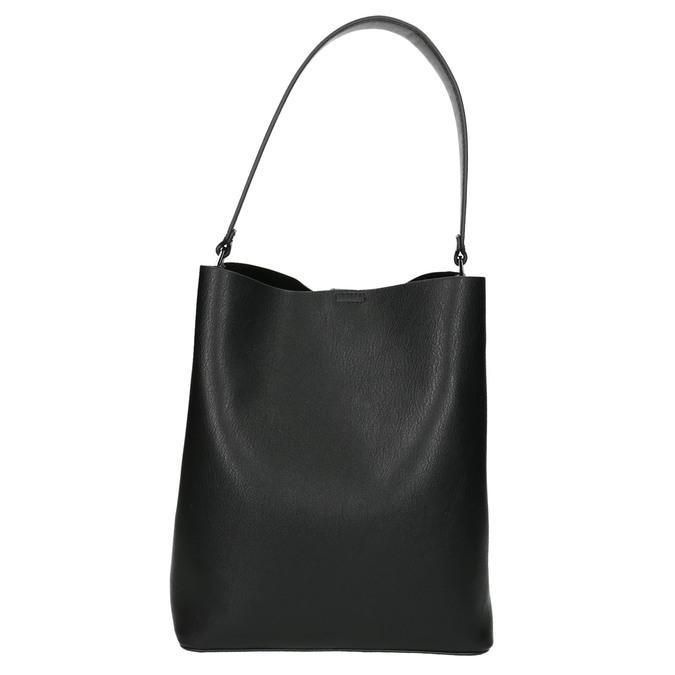 Ladies' two-tone handbag bata, black , 961-6173 - 17