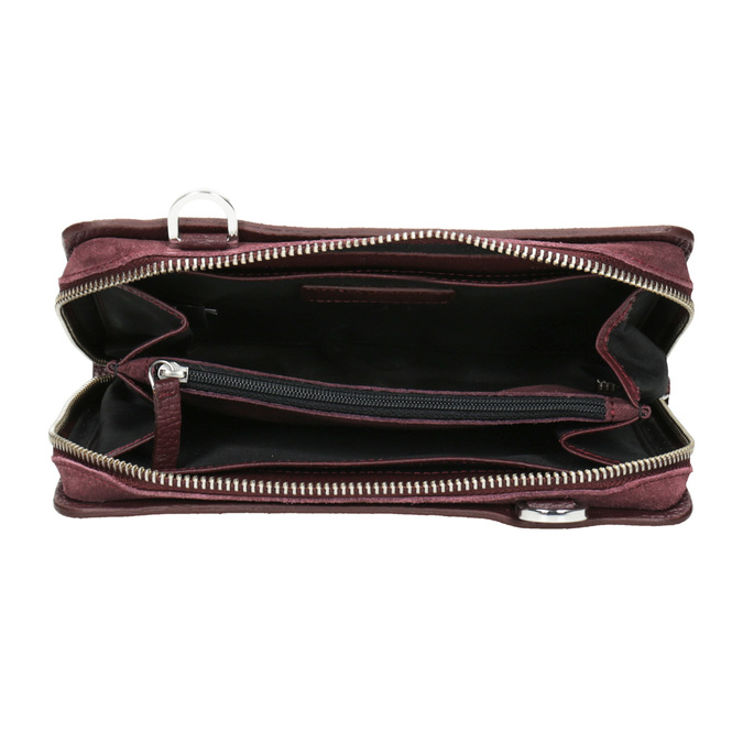 Red Leather Crossbody Handbag royal-republiq, red , 963-5050 - 15