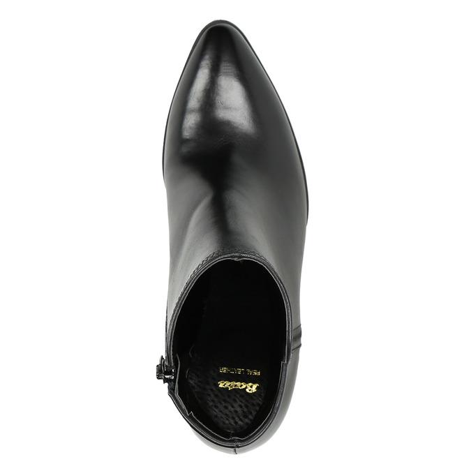 Ladies' Leather Ankle Boots bata, black , 794-6650 - 26