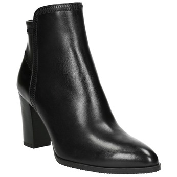 Ladies' Leather Ankle Boots bata, black , 794-6650 - 13