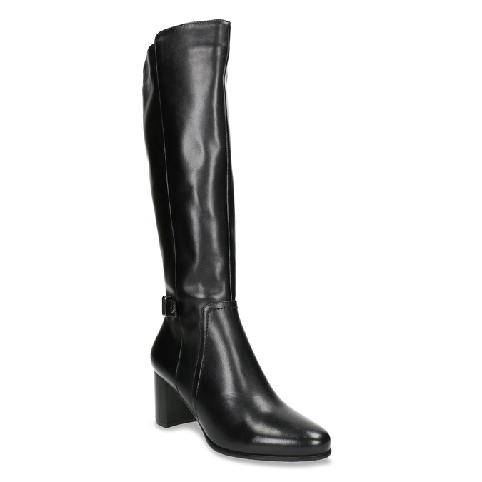 High Boots with a Sturdy Heel bata, black , 694-6638 - 13