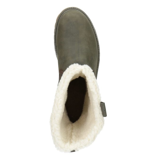 Ladies' winter boots with fur weinbrenner, gray , 594-2455 - 15