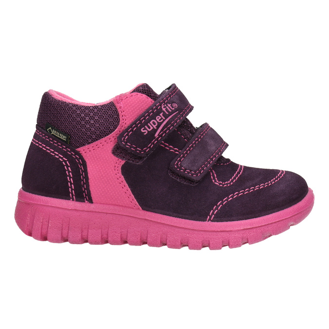 Children's leather ankle boots superfit, violet , 123-5036 - 26