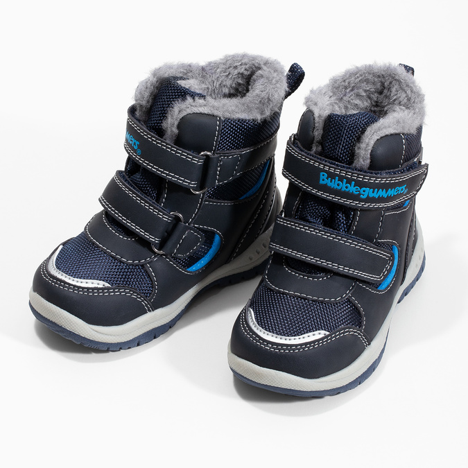 Children's Winter Boots with Fleece bubblegummer, blue , 199-9602 - 16