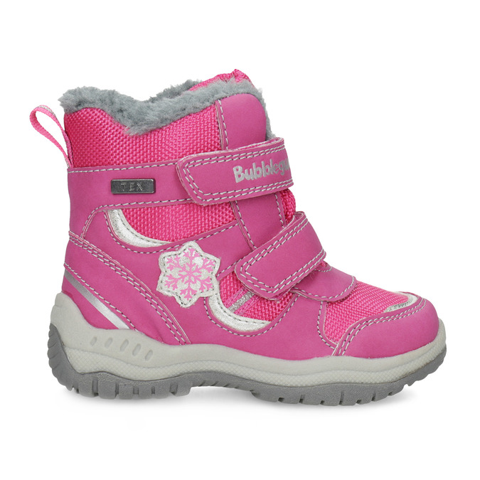 Pink Children's Snow Boots bubblegummer, pink , 199-5602 - 19