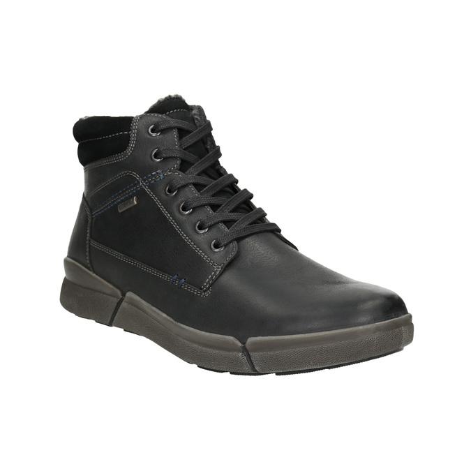 Men's Leather Winter Boots bata, black , 896-6672 - 13