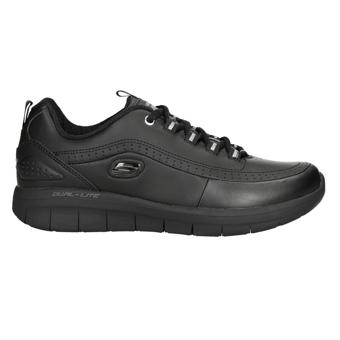 Ladies' black sneakers skechers, black , 501-6317 - 26