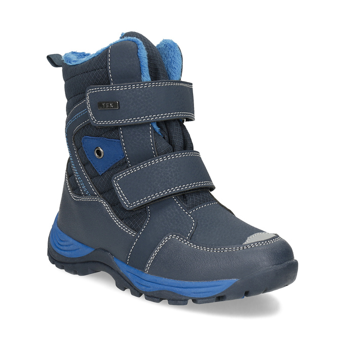 Children's winter boots with Velcro mini-b, blue , 491-9653 - 13