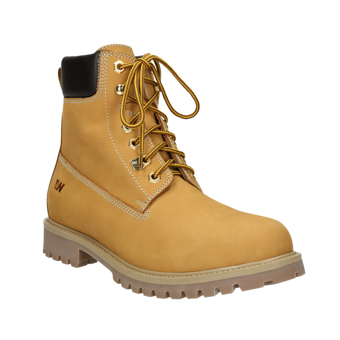 Leather Ankle Boots weinbrenner, yellow , 896-8669 - 13