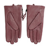 Burgundy leather gloves with zip bata, red , 904-5108 - 16