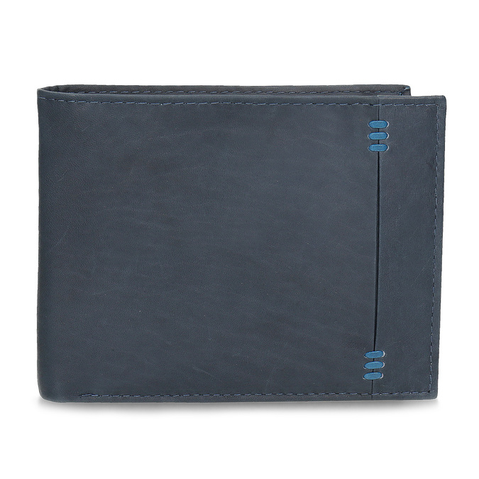 Men's leather wallet bata, blue , 944-9188 - 26