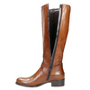 Brown Leather High Boots bata, brown , 596-4665 - 26