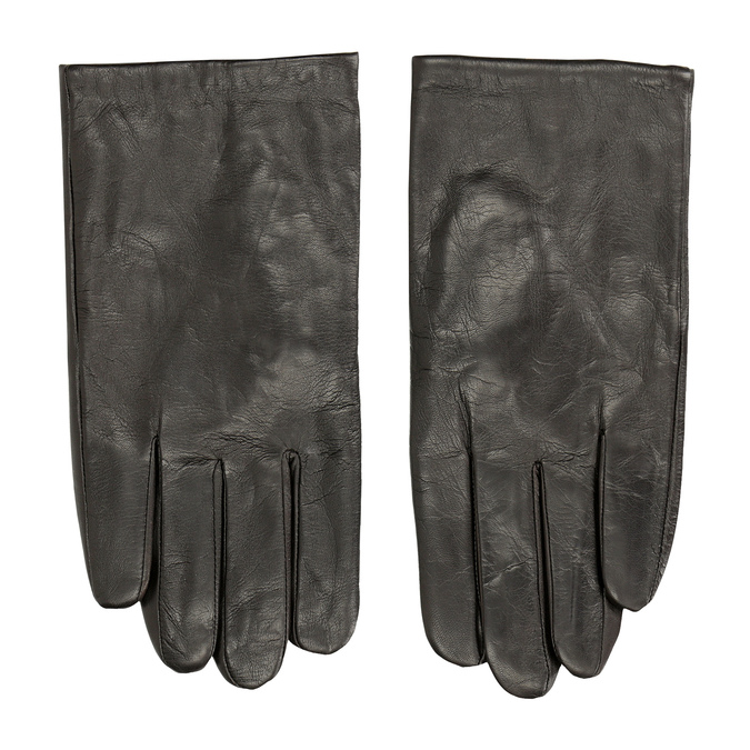 Brown leather gloves bata, brown , 904-4130 - 26