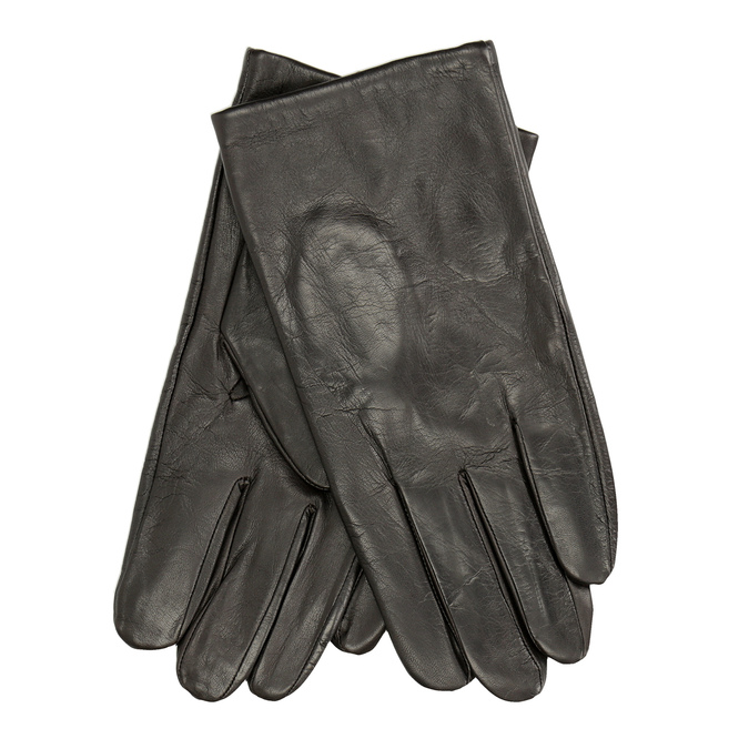 Brown leather gloves bata, brown , 904-4130 - 13