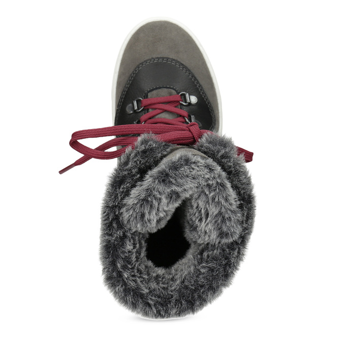 Ladies' leather snow boots weinbrenner, gray , 593-4601 - 17