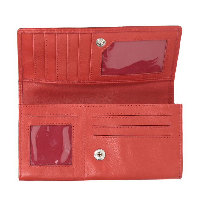 Ladies' red leather purse, red , 944-3203 - 15