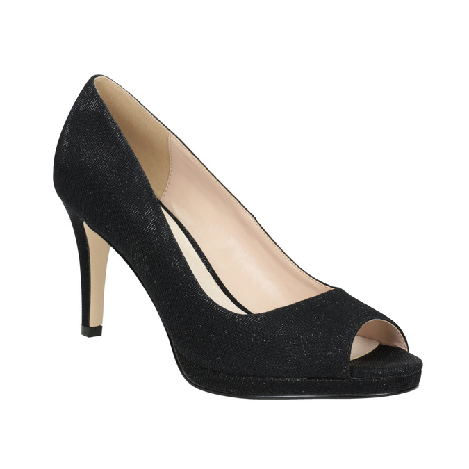 Peep-Toe Pumps bata, black , 729-6610 - 13