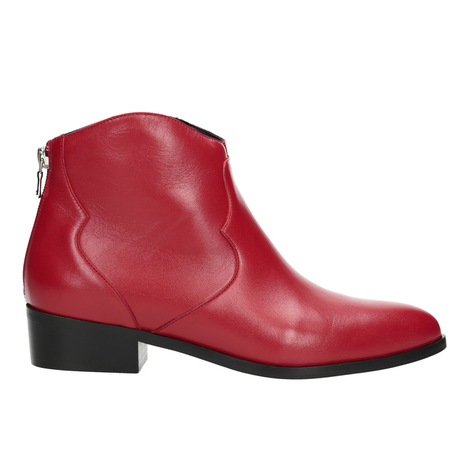Red high ankle boots bata, red , 594-5665 - 16