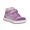 Kids' hi-top sneakers with a pattern bubblegummer, violet , 121-9618 - 13