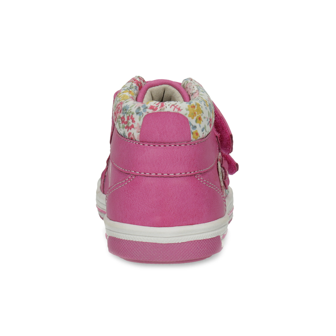 Pink leather ankle boots with Velcro bubblegummers, 121-5618 - 15