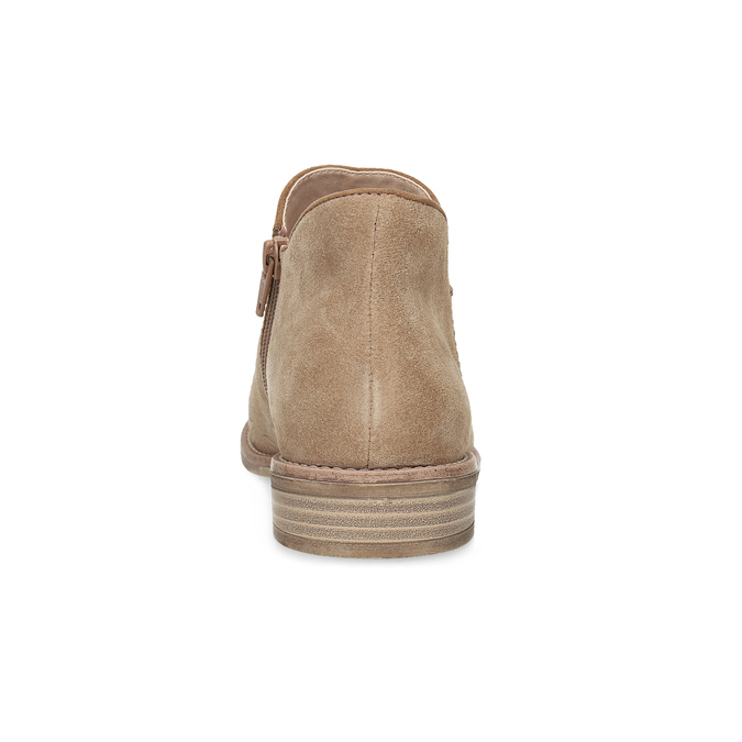 Leather ankle boots bata, brown , 596-3685 - 15