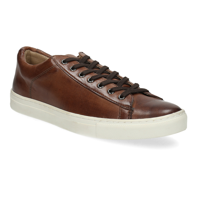 Men's Leather Sneakers bata, brown , 846-4648 - 13