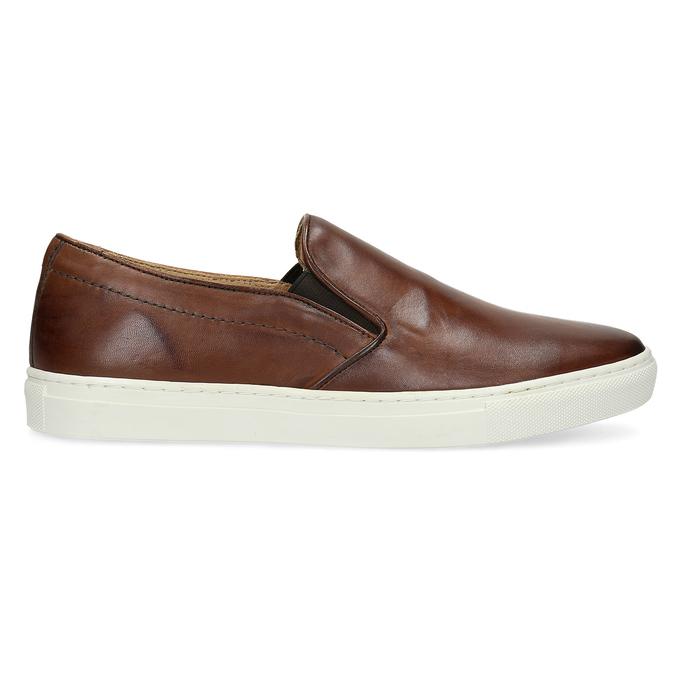 Men's Leather Slip-Ons bata, brown , 836-4601 - 19