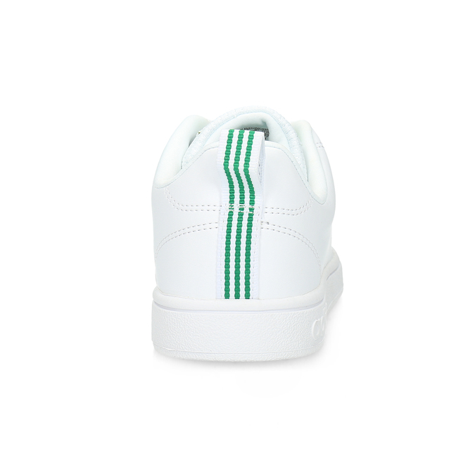 White sneakers with green details adidas, white , 501-1300 - 15