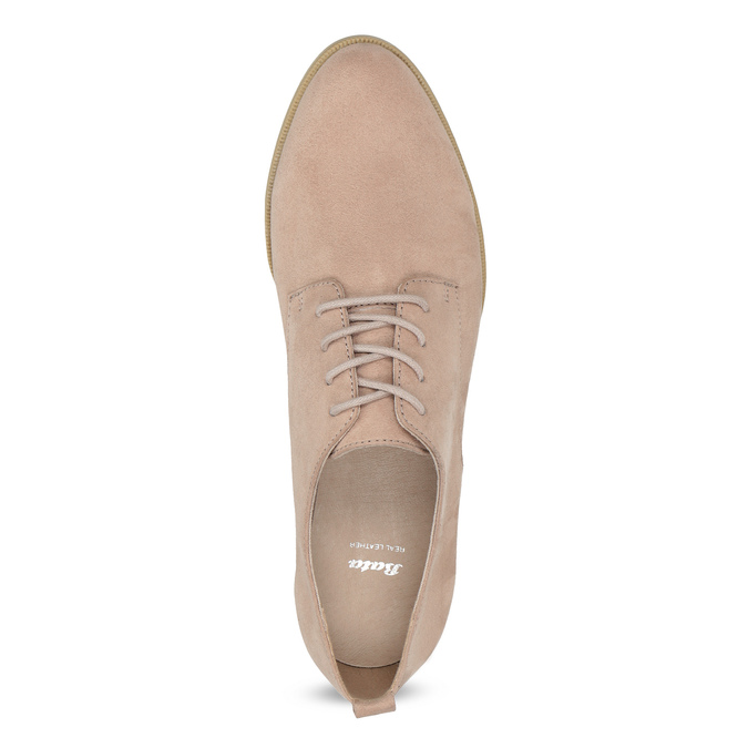 Ladies' casual leather shoes bata, pink , 529-5636 - 17