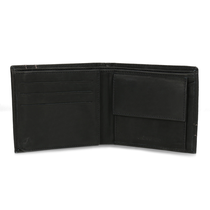 Men's leather wallet bata, brown , 944-6147 - 15